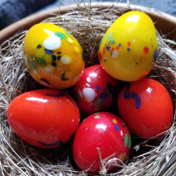Miniature Handblown Glass Easter Eggs